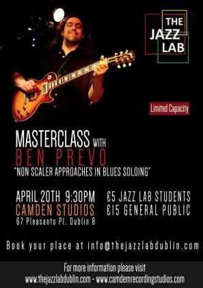 Ben Prevo masterclass poster